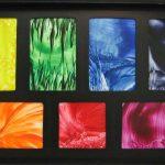 Dienblad met 7 chakra hoofdkleuren